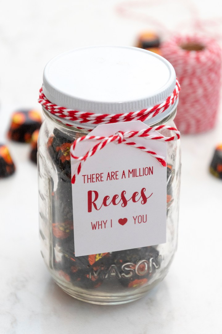 There are a million Reeses why I love you free printable Valentine card