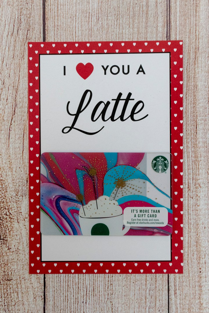 I Heart You a Latte Free Printable Valentine Card
