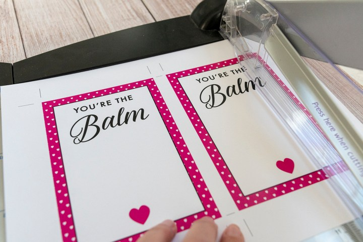 DIY You're the Balm Valentine Cards