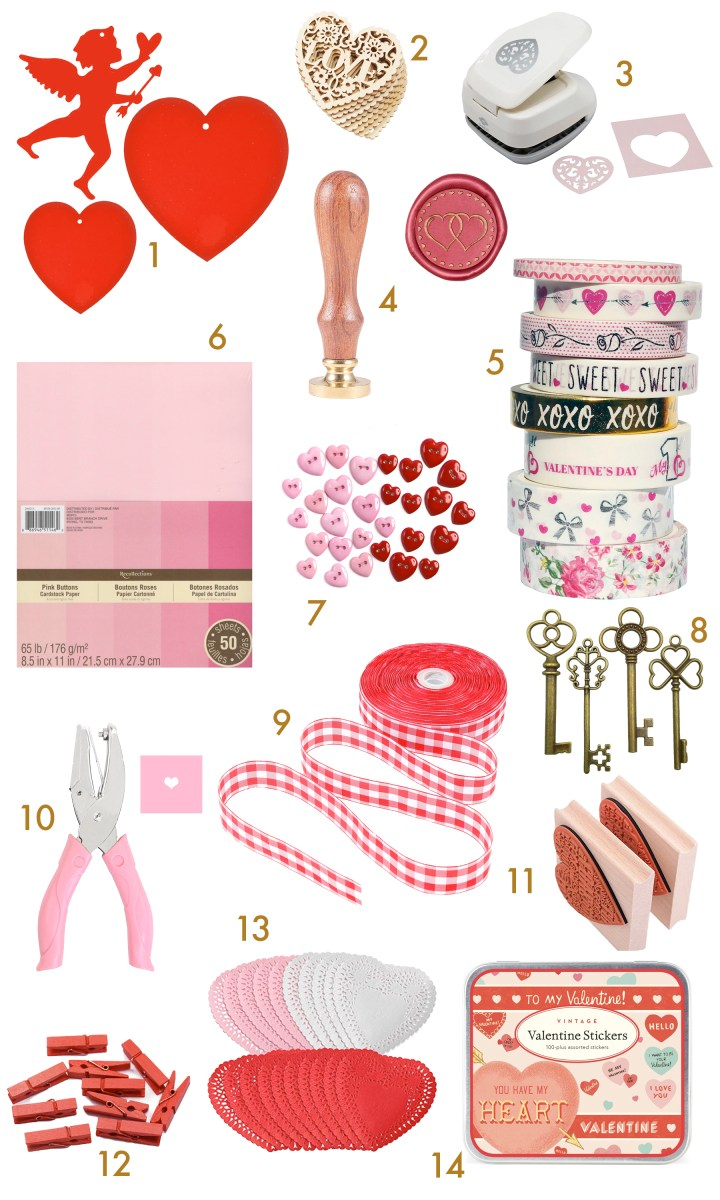 Valentine Craft Party Supplies & Ideas for Card Making