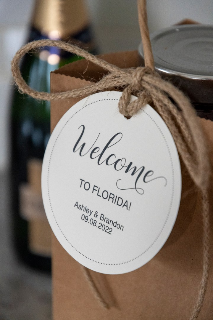 Wedding Welcome Bag Ideas with Free Printable Tags