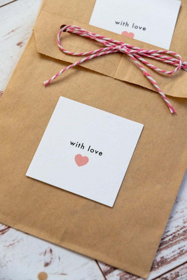 Simple Wedding Favor Free Printable Tags