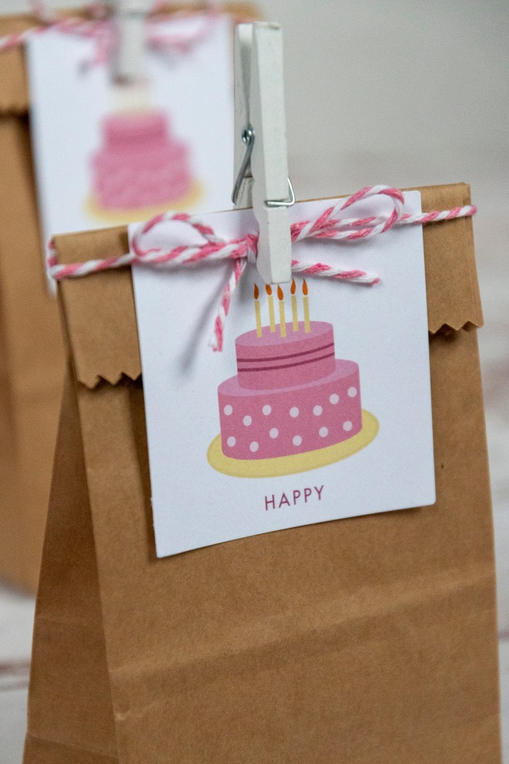 Girl Happy Birthday Favor Tags
