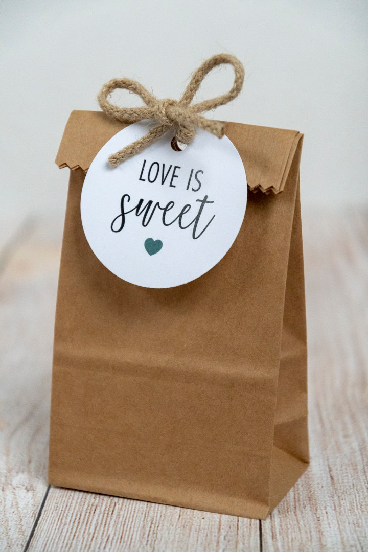 Teal Love is Sweet Printable Gift Tags