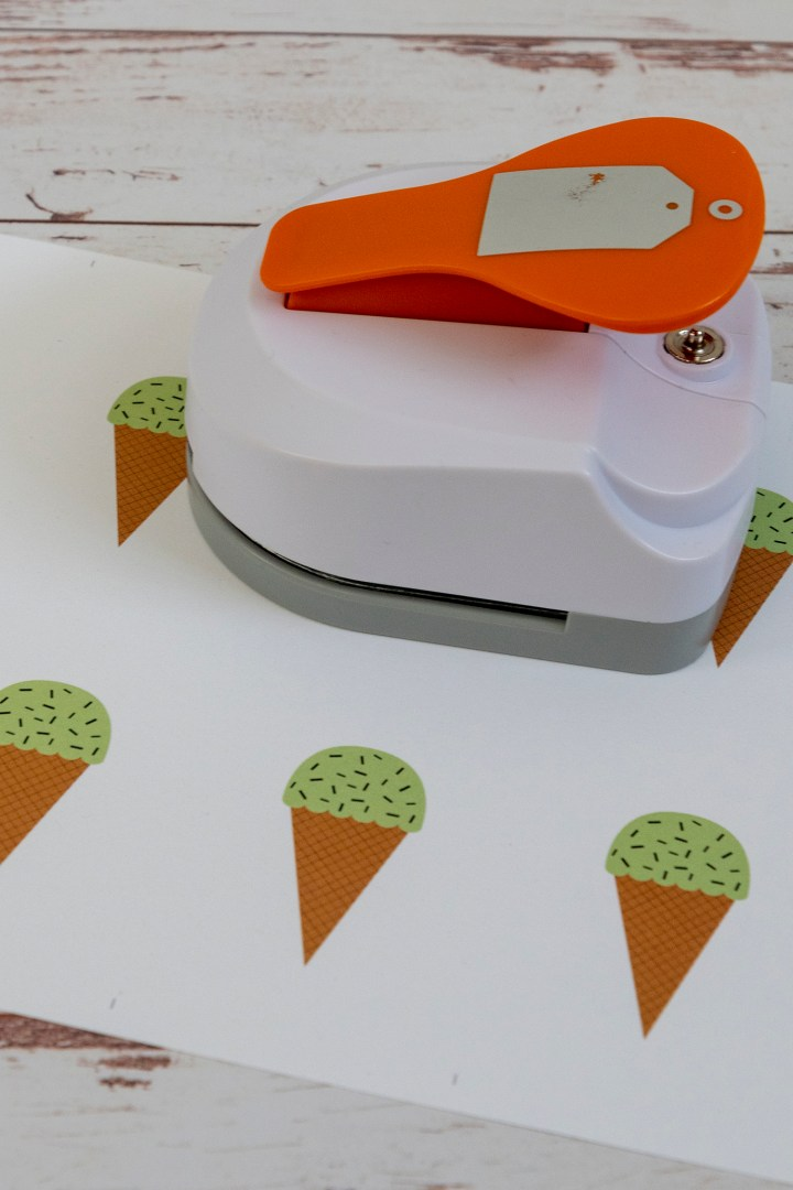 Green Ice Cream Free Printable Tags