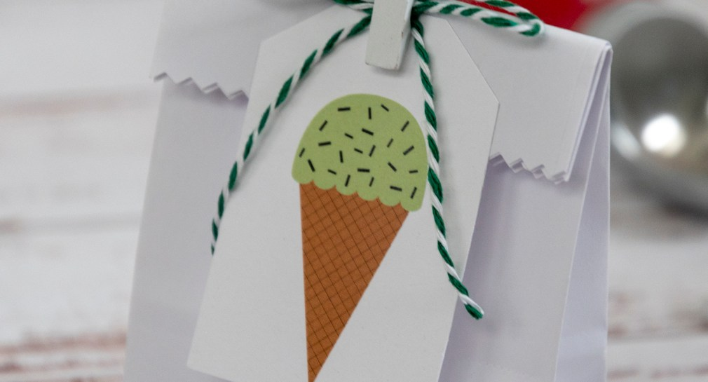 Mint Chocolate Chip Ice Cream Cone Gift Tags