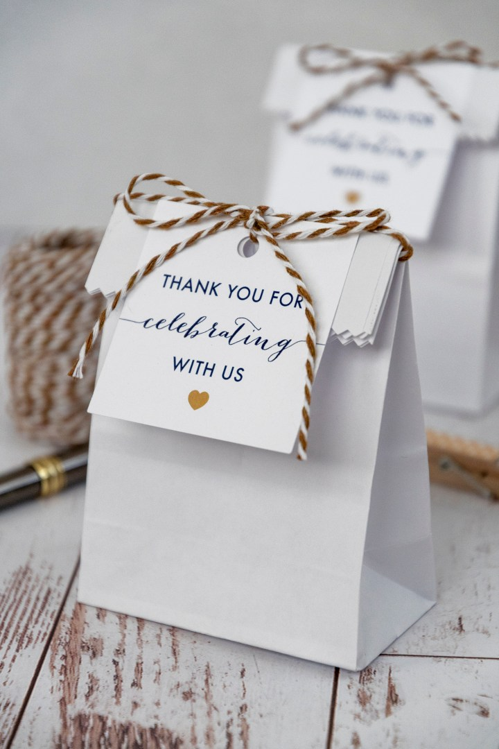 Thank You for Celebrating With Us Favor Tags