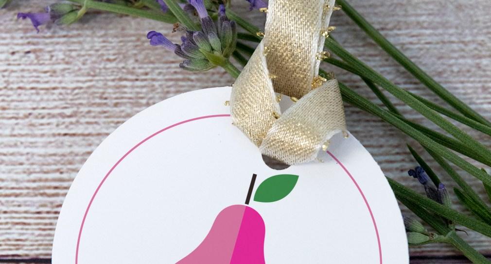 Pink Modern Pear Free Printable Gift Tags