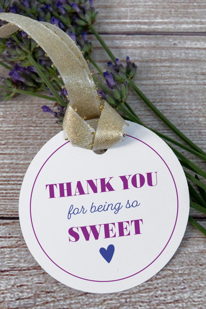 Thank You for Being So Sweet Free Printable Gift Tags