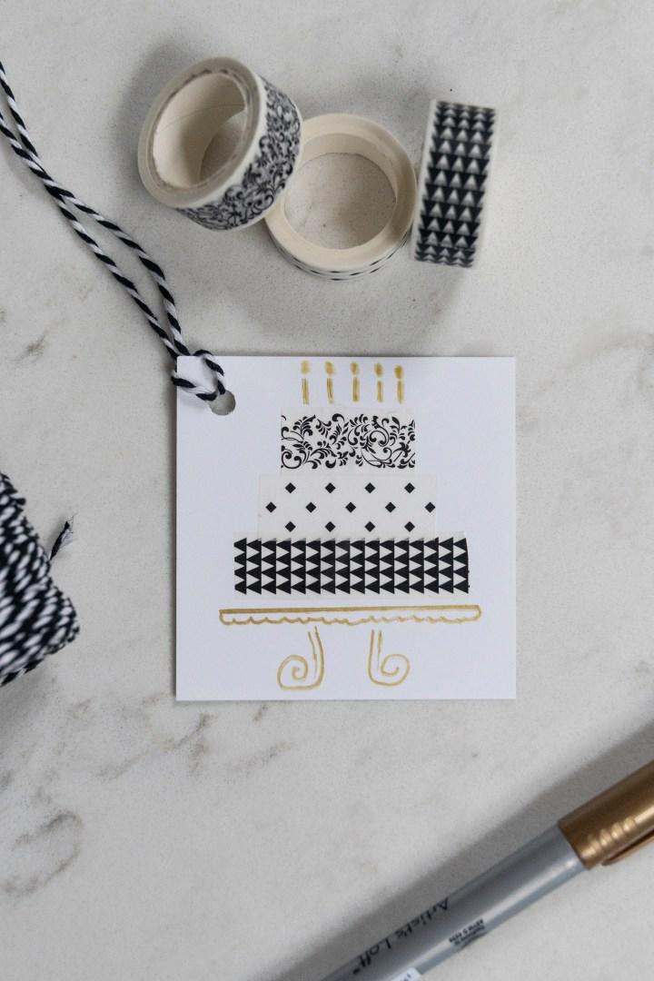 DIY Washi Tape Birthday Cake Card
