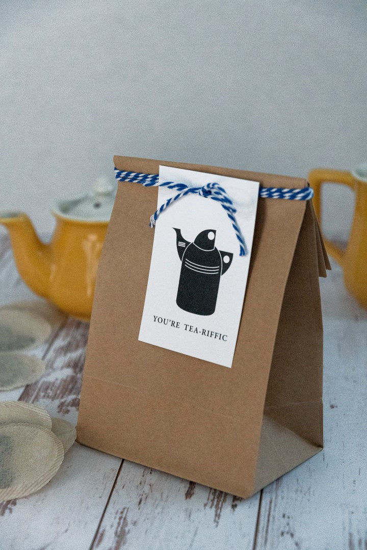 You're Tea-Riffic Free Printable Gift Tags
