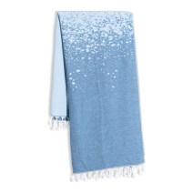 Cozy blue throw