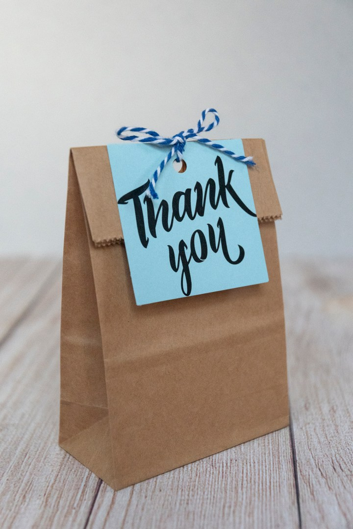 Bold Thank You Gift Tags