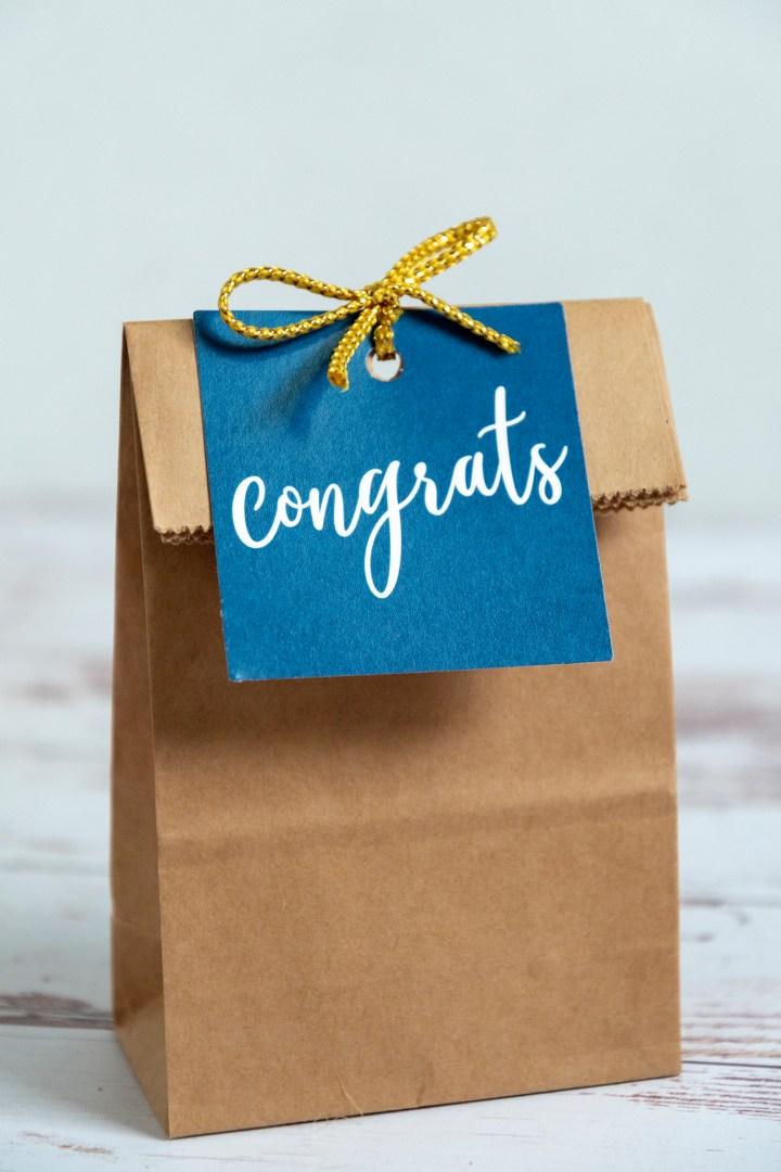 Congrats Gift Tag Free Printable