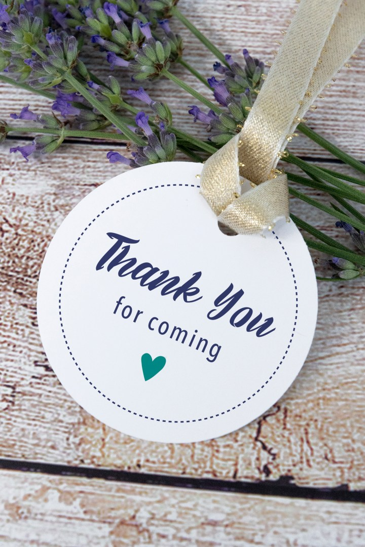 Thank You for Coming Free Printable Gift Tags