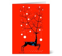 Red reindeer cards