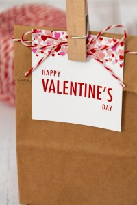 Red and pink Valentine Heart Gift tags