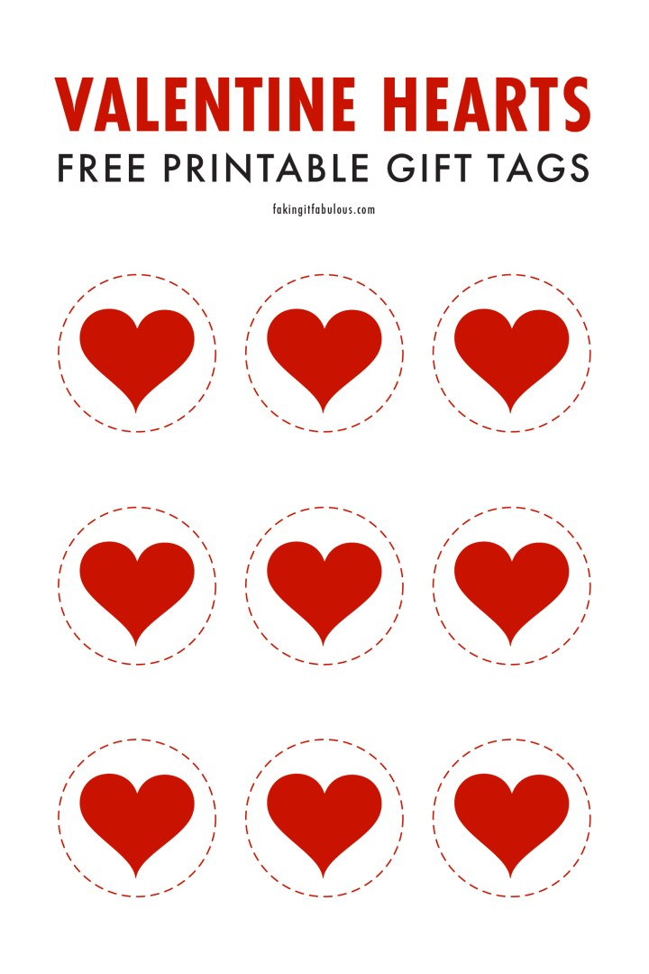 Free Printable Valentine Heart Gift Tags