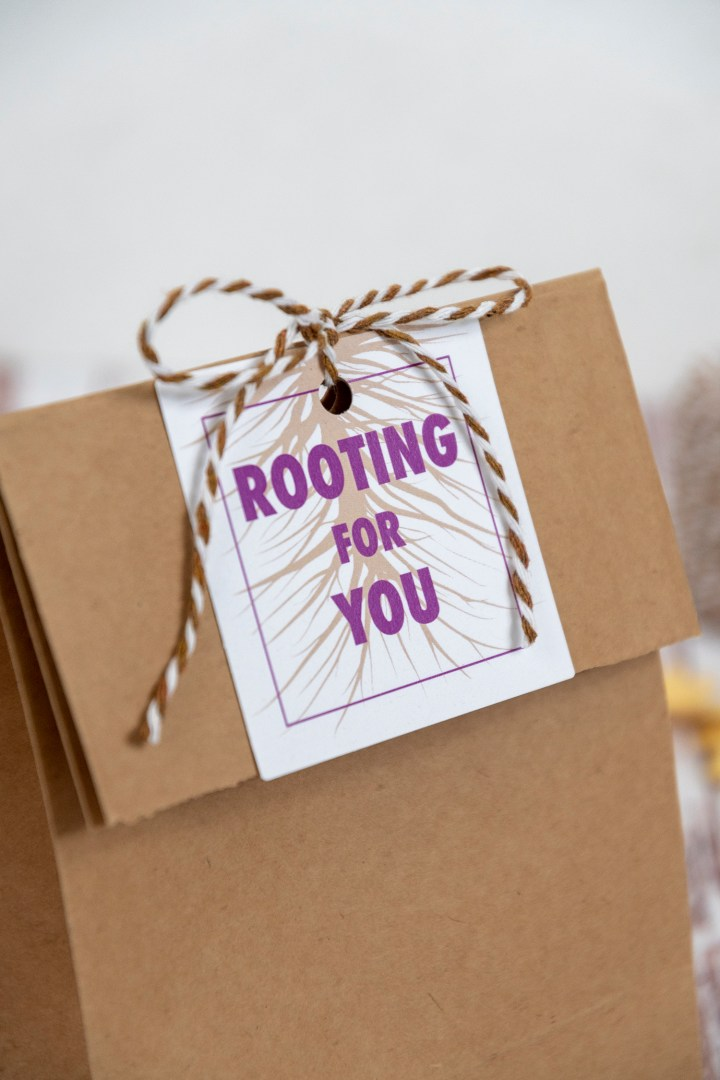 Rooting for you free printable gift tags