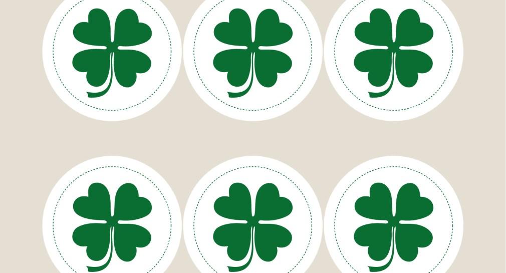 Lucky Four Leaf Clover Gift Tags