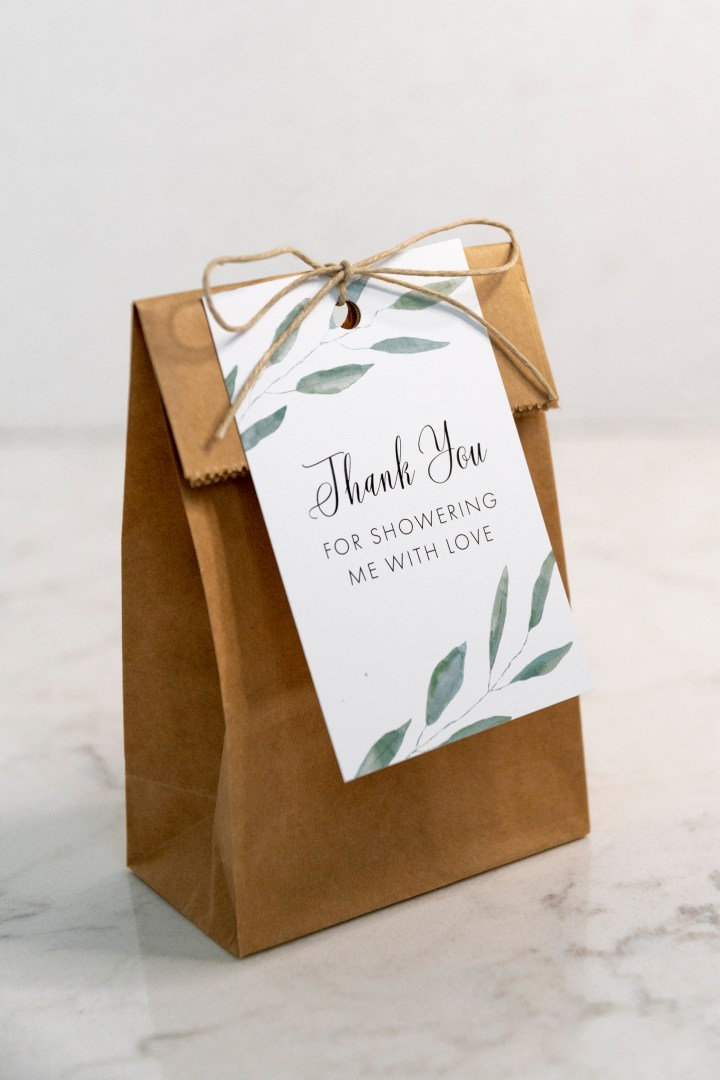 Thank You for Showering Me with Love Free Printable Gift Tags