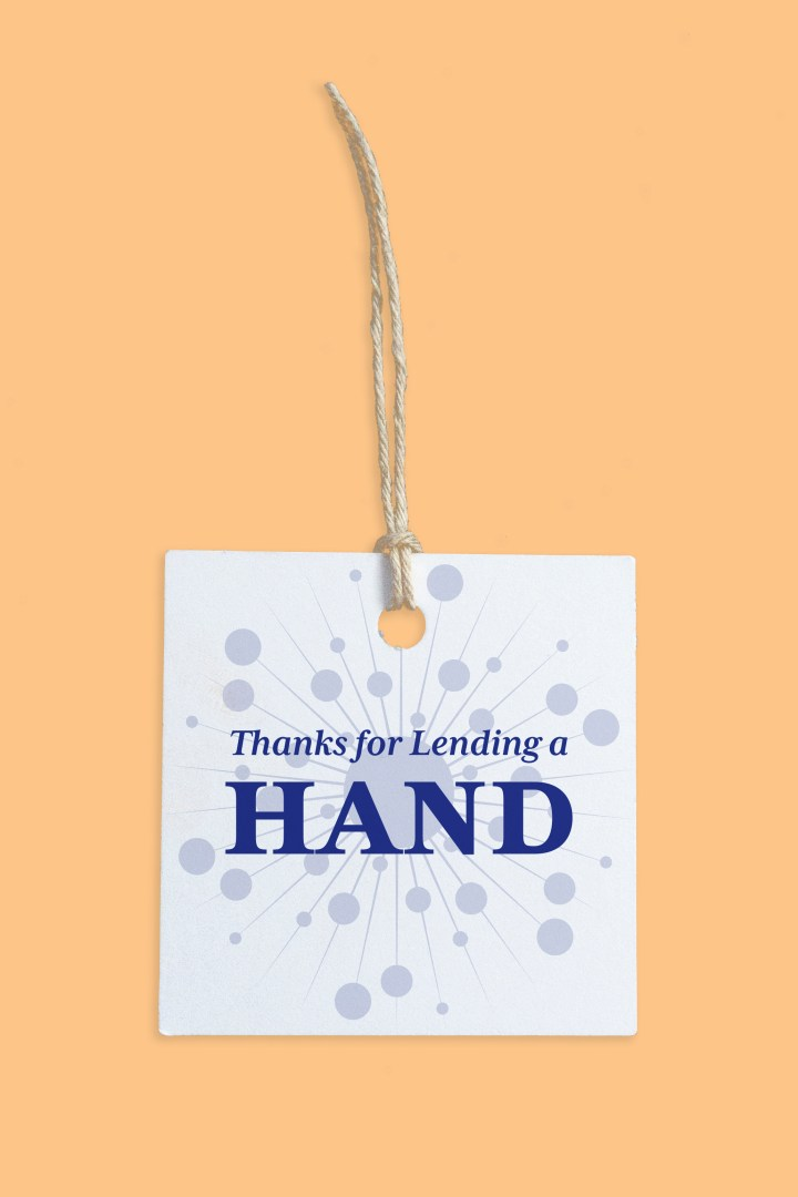 Thanks for Lending a Hand Free Printable Gift Tags
