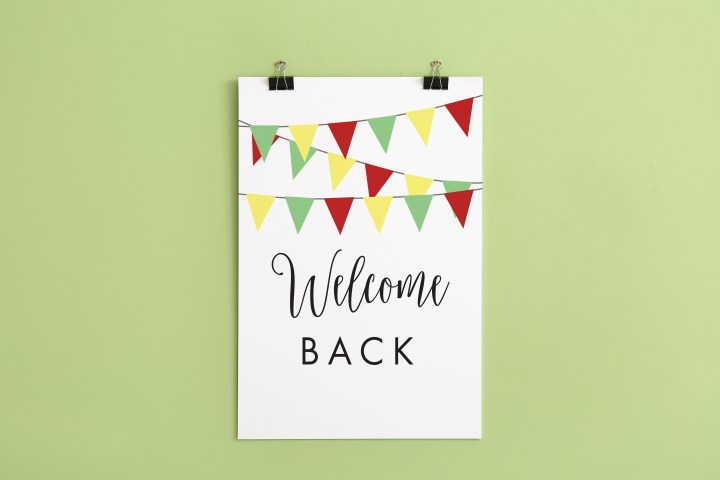 Welcome Back Sign | Free Printable Download