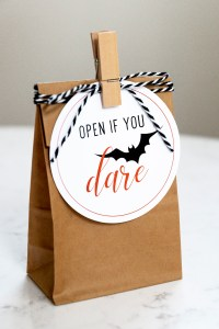 Open if you dare gift tags