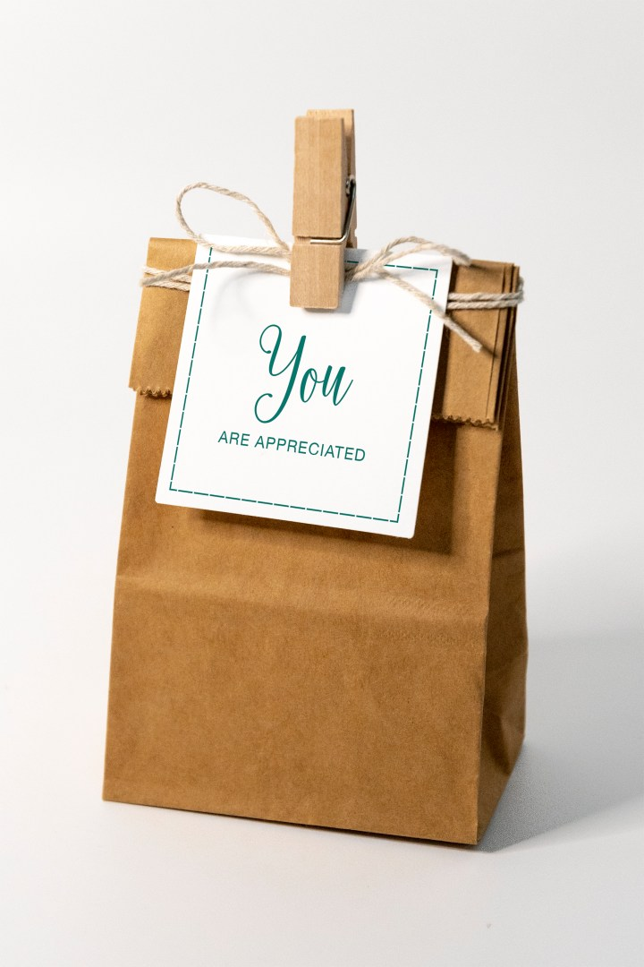 You Are Appreciated Gift Tags