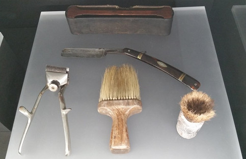 Some belongings taken from prisoners when they arrived.