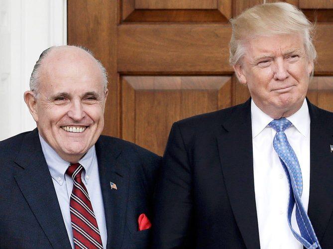 Rudy og Trump