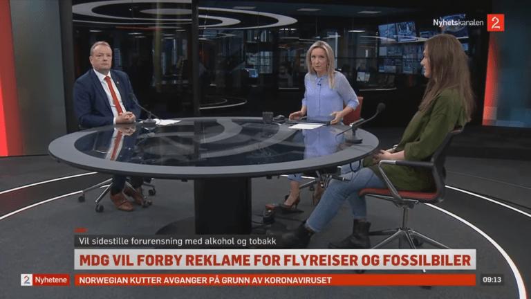 Skjermklipp fra TV2 Nyhetene
