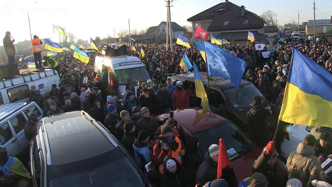 Автомайдан дістався до Межигір'я 29 дек. 2013 г.
