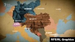 Основні європейські міста, в яких була Леся Українка (Лариса Косач-Квітка)