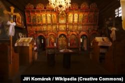 Внутрішній вигляд церкви Архангела Михаїла в рідному селі Олександра Духновича