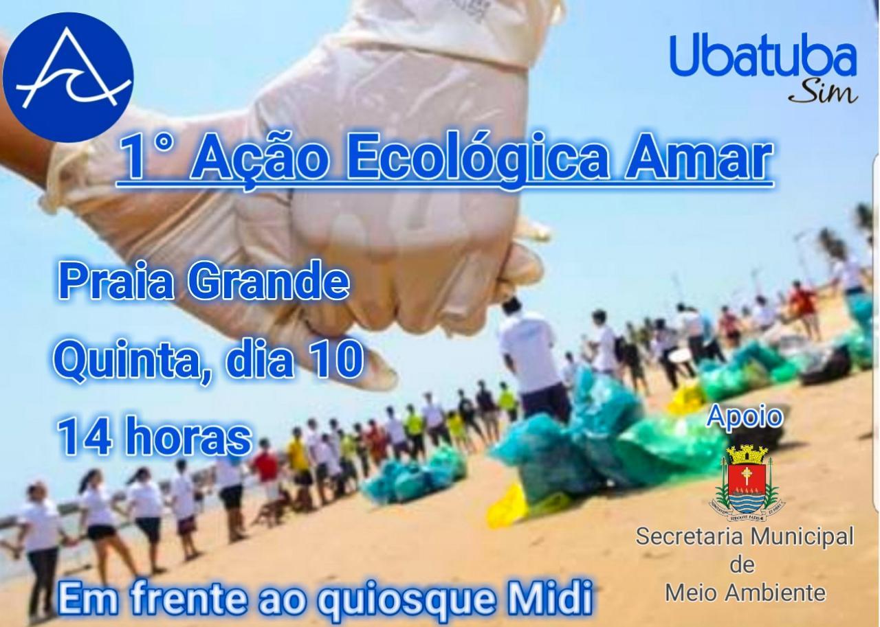 Ação em Ubatuba promove sensibilização sobre limpeza das praias