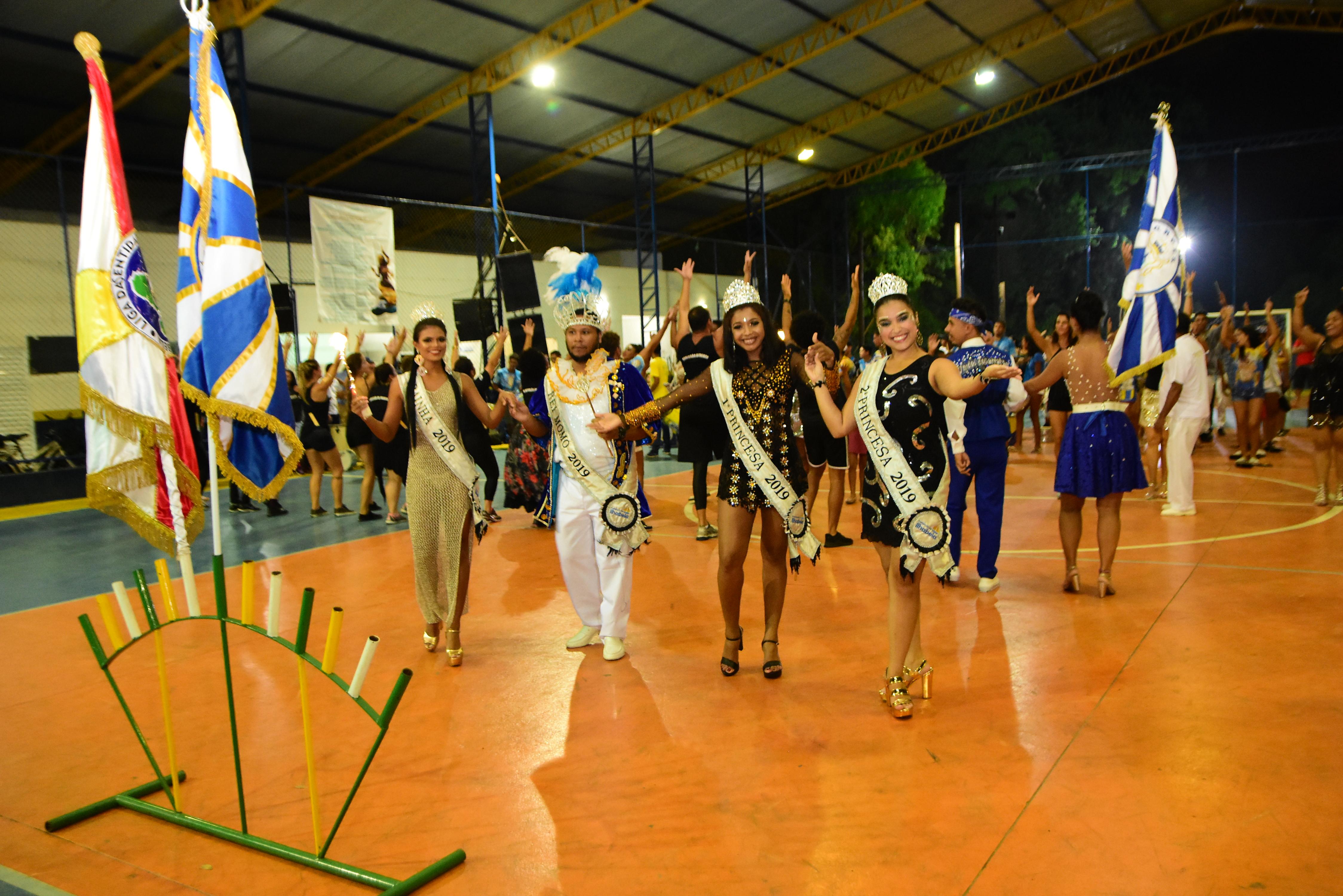 Liga Carnavalesca e Corte do Carnaval 2019 iniciam visitas aos ensaios técnicos das escolas de samba de Ilhabela