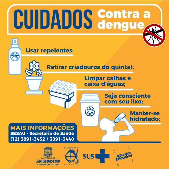 Prefeitura de São Sebastião pede atenção redobrada no combate à dengue