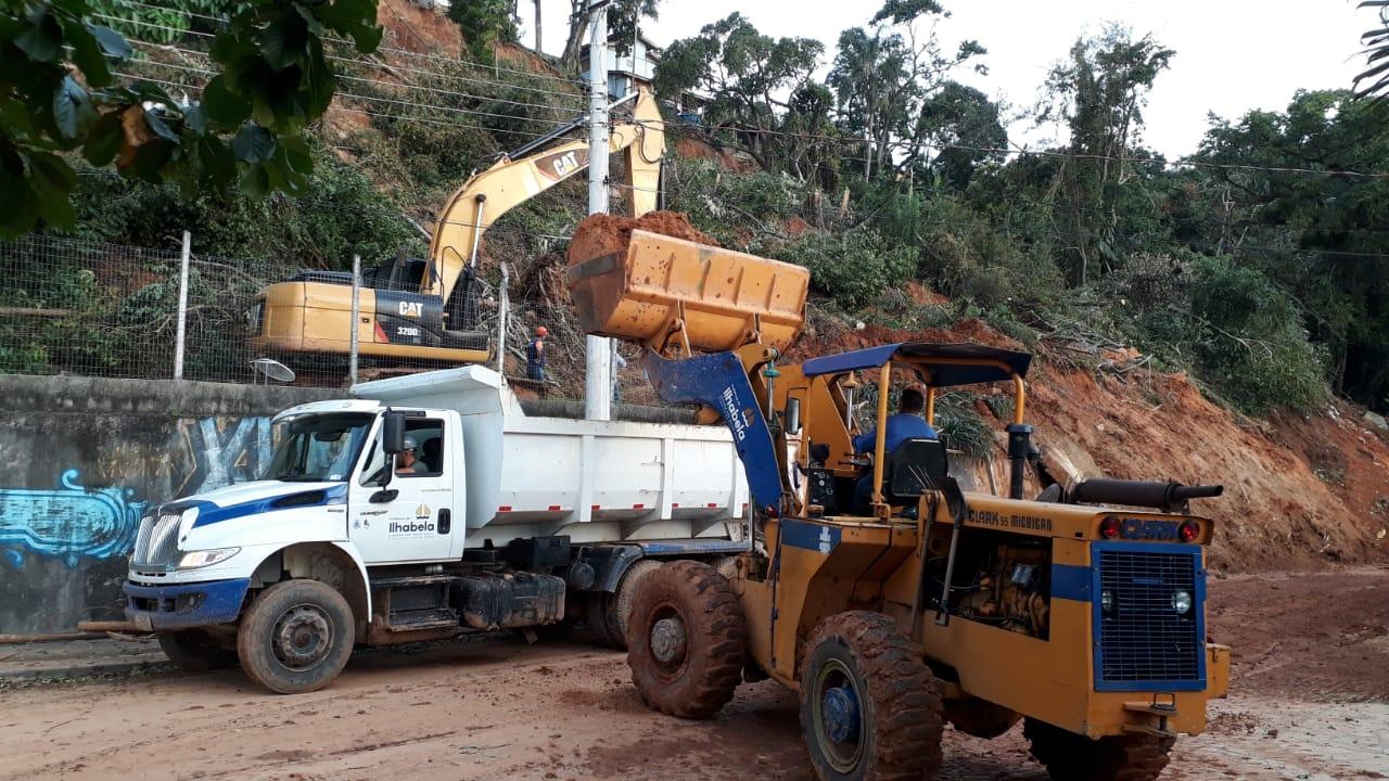 Informativo – Prefeitura realiza serviço de contenção provisória para avançar na desobstrução da SP 131 no Sul da ilha