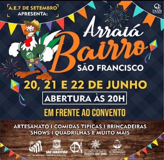 Arraiá do Bairro São Francisco inicia na próxima quinta-feira (20/06)