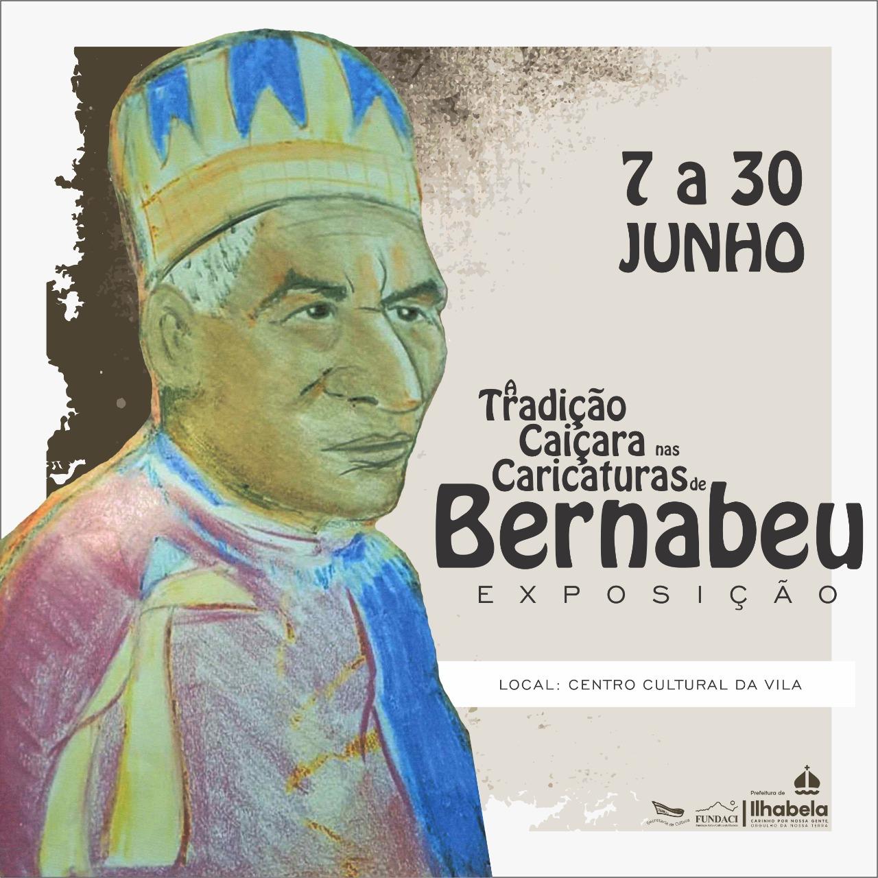 """""""A Tradição Caiçara nas Caricaturas de Bernabeu"""" é a próxima exposição do Centro Cultural"""