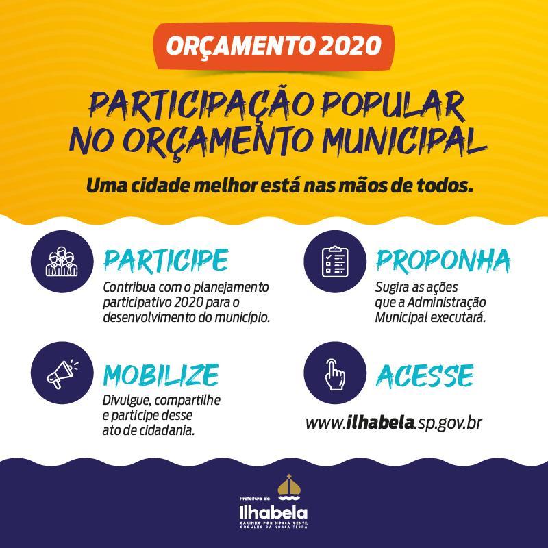 Prefeitura altera datas das reuniões que envolvem o projeto de participação popular no orçamento municipal de 2020