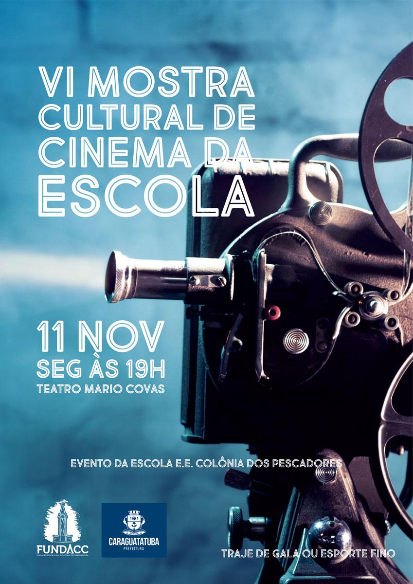 Teatro Mario Covas recebe VI Mostra Cultural de Cinema da Escola