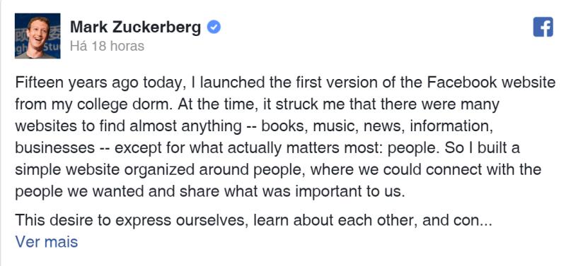 Zuckerberg faz textão e promete mais segurança