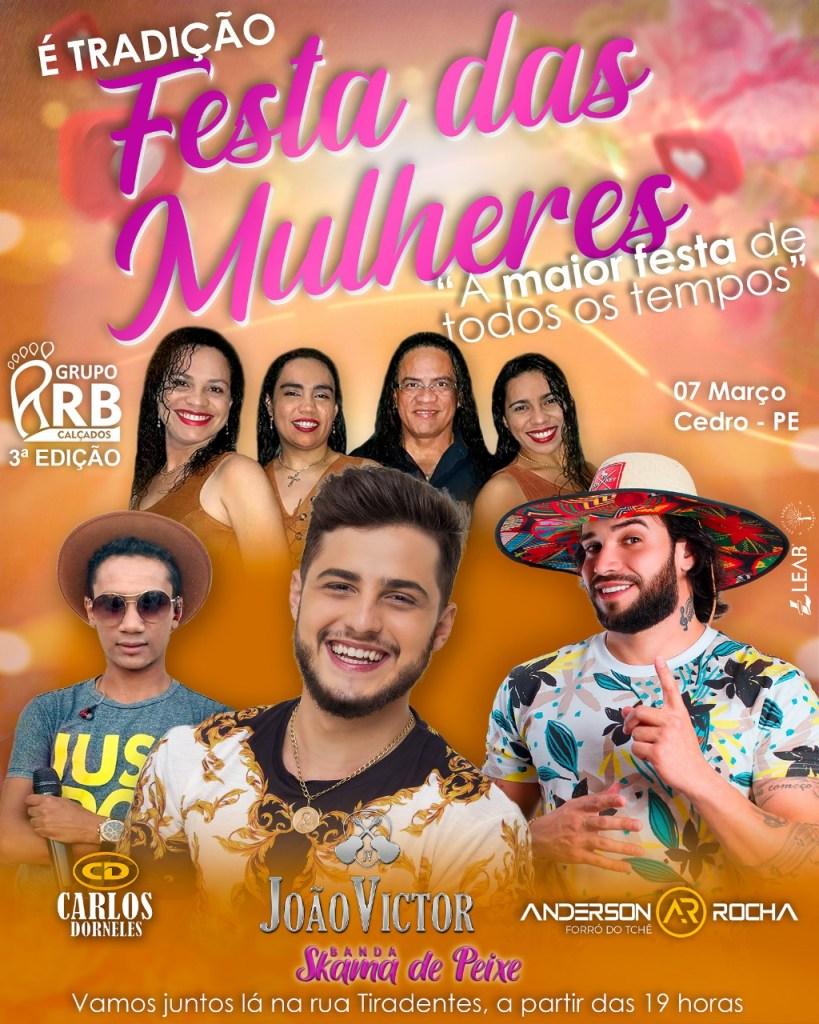 Cedro - Panfleto Festa das Mulheres