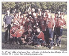 Middle School Boys Soccer Conference Champions 2010