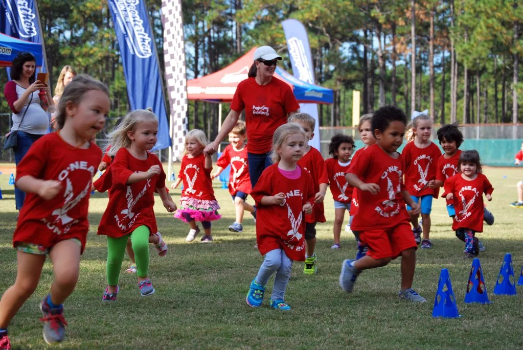 """The Boosterthon in 2016 held by O'Neal's PA and Booster Club had a few """"fun runs"""" for different age groups."""
