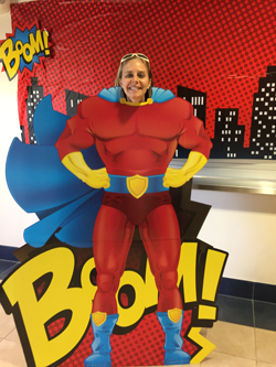 """Teacher appreciation days have many themes. This one in 2017 was """"Super Heroes""""."""