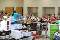 The PA Tag Sale set up in the dining commons in 2011.