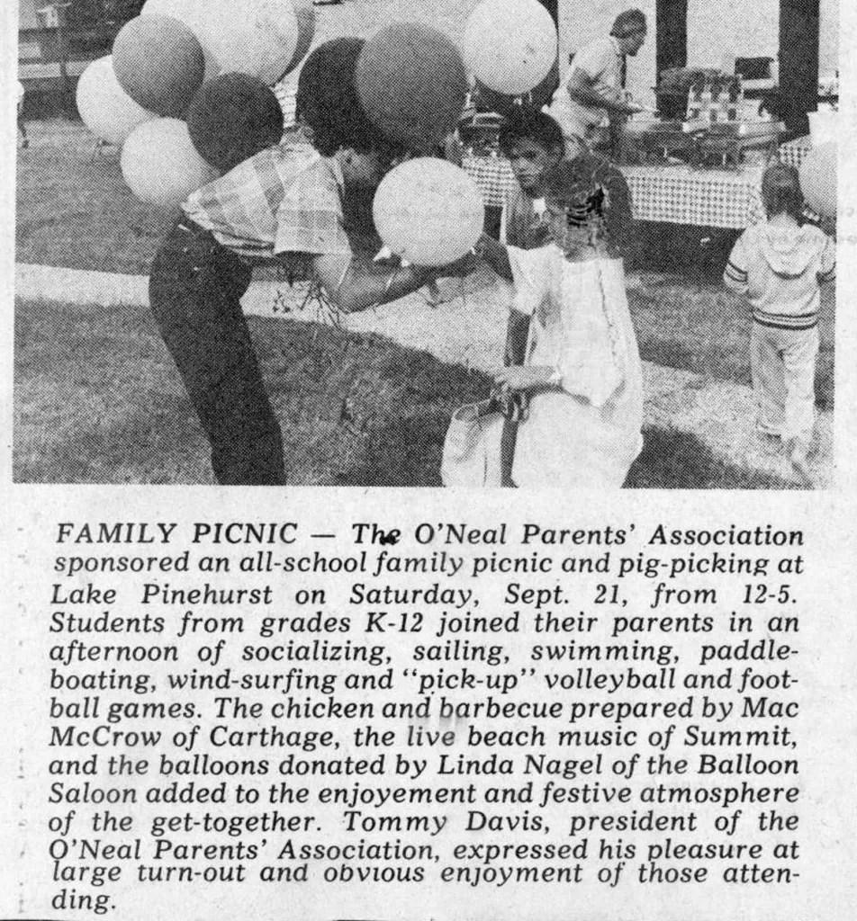 Picnic 1985 at Lake Pinehurst
